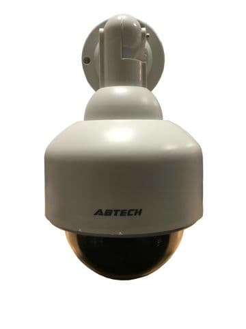 DUMMY CCTV SURVEILLANCE SECURITY CAMERA with RED FLASH LIGHT shop office home